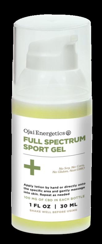 ojai energetics cbd sports gel - cannabidiol gel