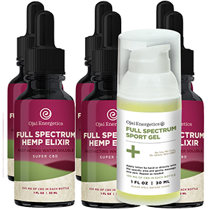 cbd oil and sports gel pack