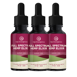 3 full spectrum hemp elixir bottles