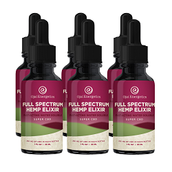 6 full spectrum hemp elixir bottles