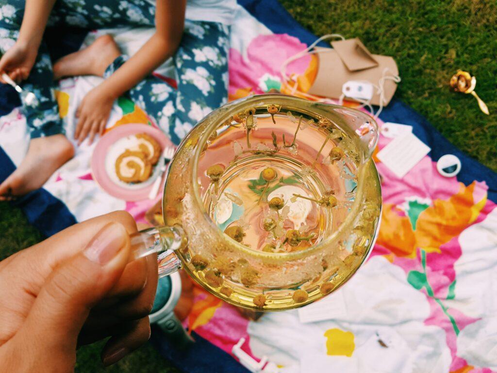 Herbal tea and CBD Coconut Oil